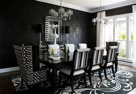 black and white dining room ideas sophisticated black dining room decor ideas abpho