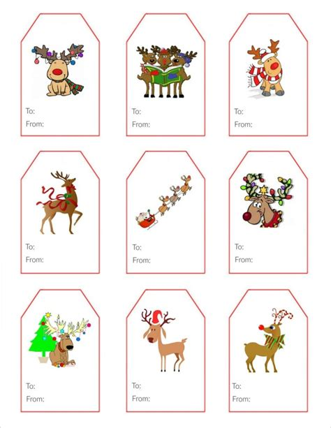 Printable Reindeer Christmas Tags | festive reindeer gift tags simply southern baking
