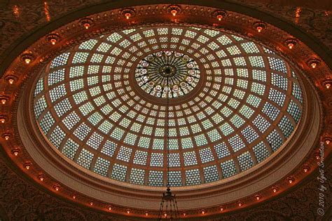 Glass Dome Ceiling by Chicago Architecture Cityscape Grand Interiors