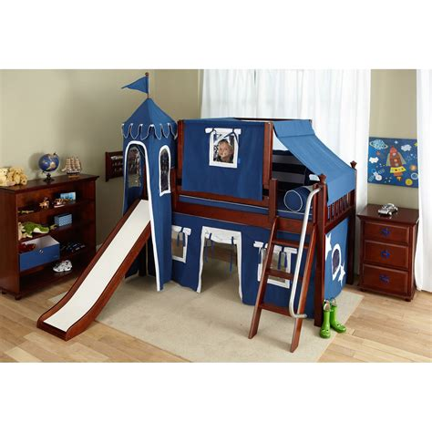 bed tents for boys wow boy i deluxe panel low loft tent bed with slide bunk beds loft beds at hayneedle