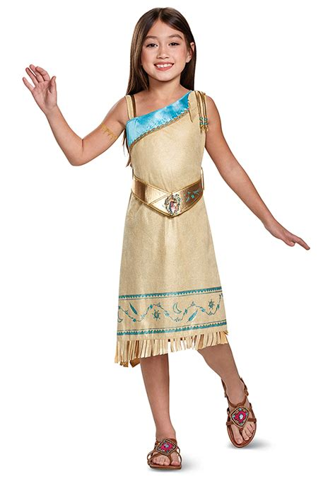 cartoon indian princess dress pocahontas deluxe child costume