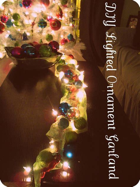 lighted ornament garland la vie diy diy lighted ornament garland