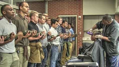 yourube marine corp hair ut marine corps recruits initial haircuts youtube