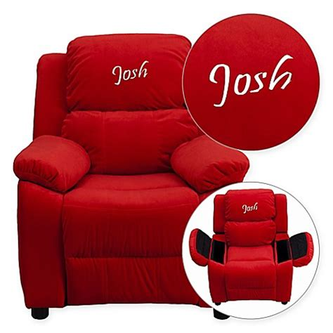 personalized kids recliners buy flash furniture personalized kids recliner in red