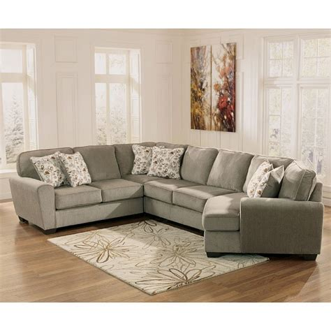 patola park patina sectional  cuddler  signature design  ashley furniturepick