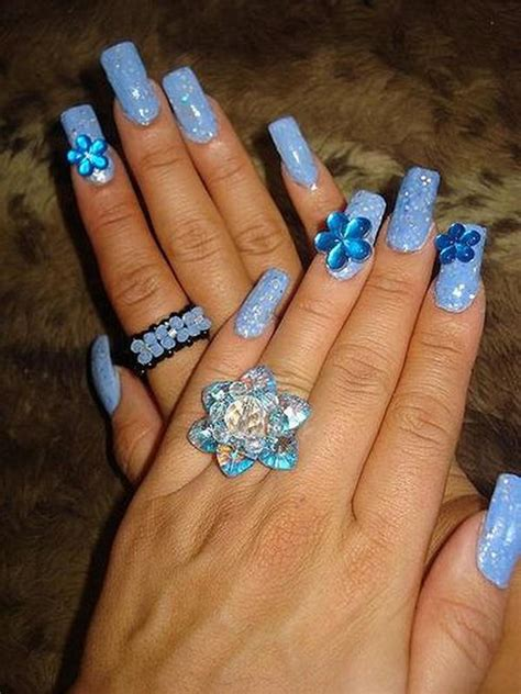 pretty flower nail designs hative