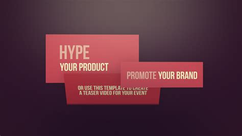 after effects promo templates agenda modular promo after effects template