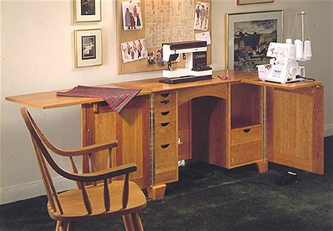 sewing cabinet large format paper woodworking plan