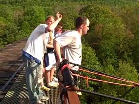 bungee jumping over the edge adventures pennsylvania youtube