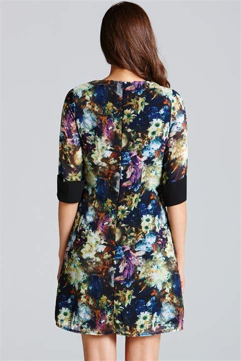 Flower Tunic Dress Jumbo floral tunic dress