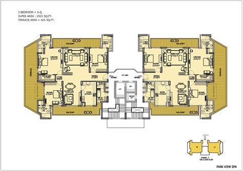 mts centre floor plan 4 bhk luxury apartments in sector 47 gurgaon bestech group