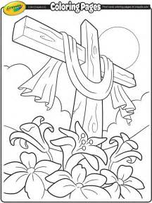 coloring pictures of easter lilies easter cross crayola ca