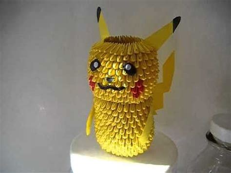 How To Make A 3d Origami Pikachu - 3d origami pikachu