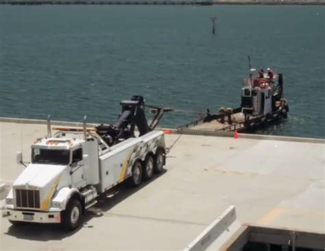 tow over boat bangshift big rig tow truck