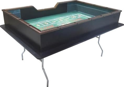 6 foot craps table w h folding metal legs craps tables