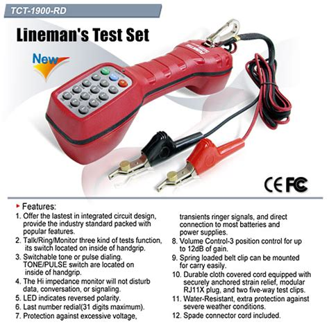 Goldtool Tct 1900bl Lineman S Test Set www rometel co th