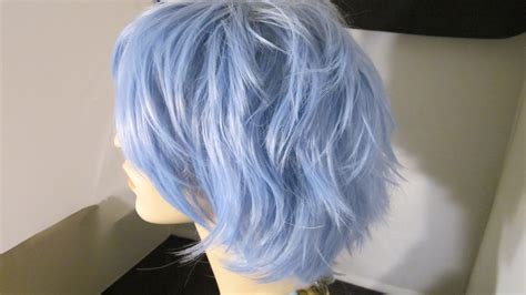 how to do the periwinkle hair style short sale short wig periwinkle blue cosplay by
