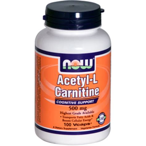 The Carnitine Defense now foods acetyl l carnitine 500 mg 100 vcaps iherb