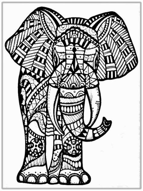 coloring pages abstract elephant get this abstract elephant coloring pages 8963421
