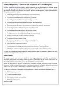 Electrical Engineer Responsibilities by Electrical Engineering Technicians Description And Career Prospec