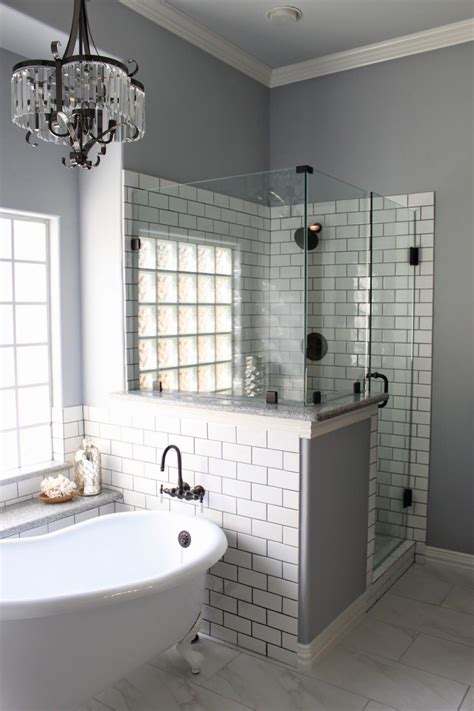 Subway Tile Bathroom Colors by Master Bath Remodel Grey Grout White Subway Tiles And Grout
