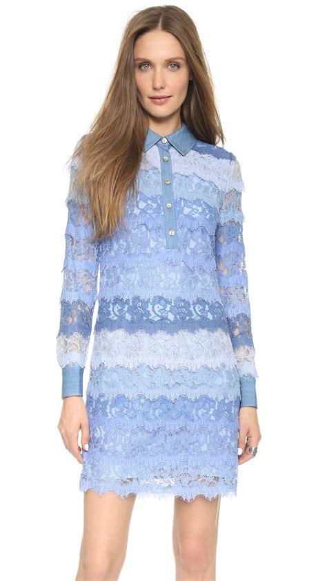 Amoera Dress diane furstenberg amora lace dress in blue lyst