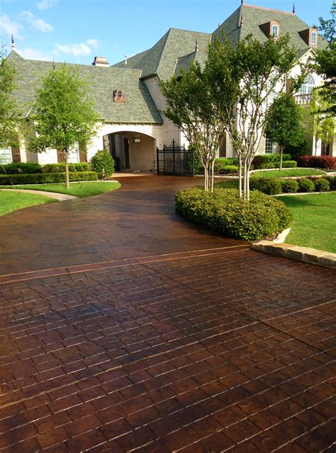 stained and sted driveways can give your home classic