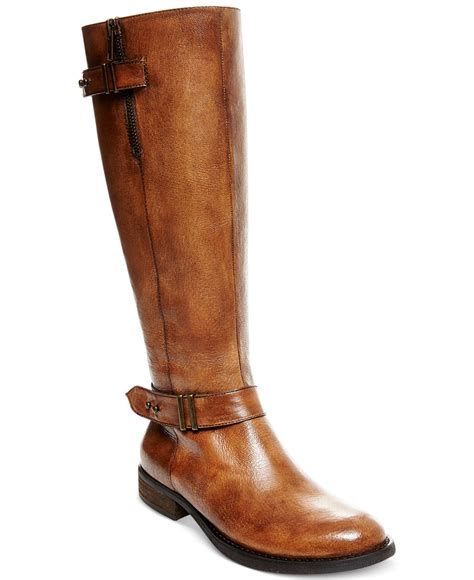 steve madden boots for steve madden s alyy boots in brown cognac