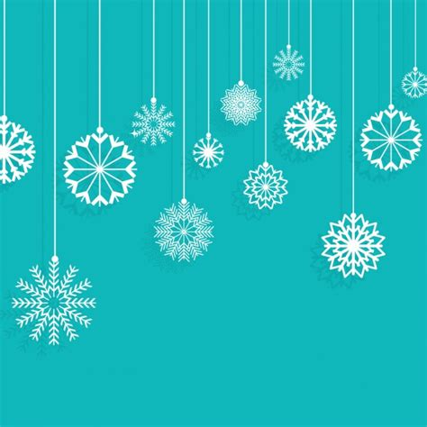 hanging snowflakes snowflakes hanging on a turquoise background vector free