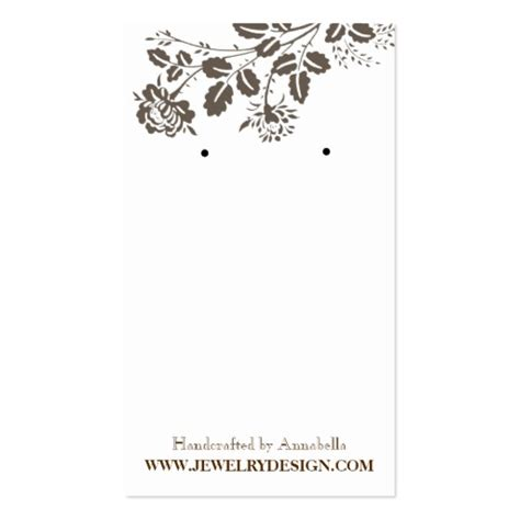 earring card template free earring card template business card templates bizcardstudio