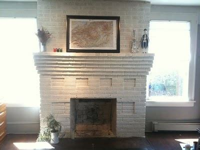 Pictures Of Brick Fireplaces Painted White by White Painted Brick Fireplace Amiladawn Pinterest