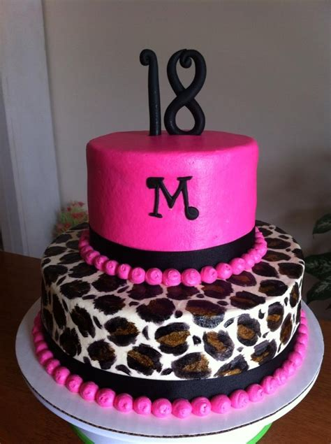 leopard birthday cake pink leopard birthday cake my cakes pinterest