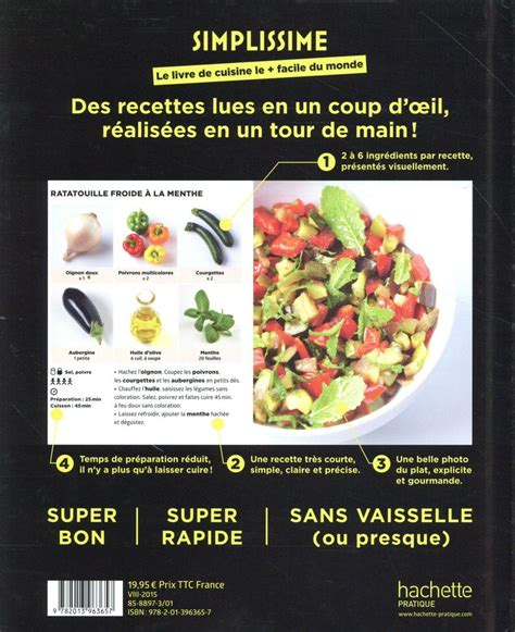 livre cuisine du monde livre simplissime le livre de cuisine le facile du