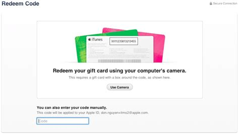 How Do You Use Itunes Gift Card To Buy Apps - redeem itunes gift cards with your iphone camera in ios 7 gift cards on sale