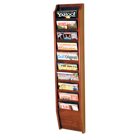 Magazine Wall Racks by Wall Mount Magazine Rack Ten Pocket In Wall Magazine Racks
