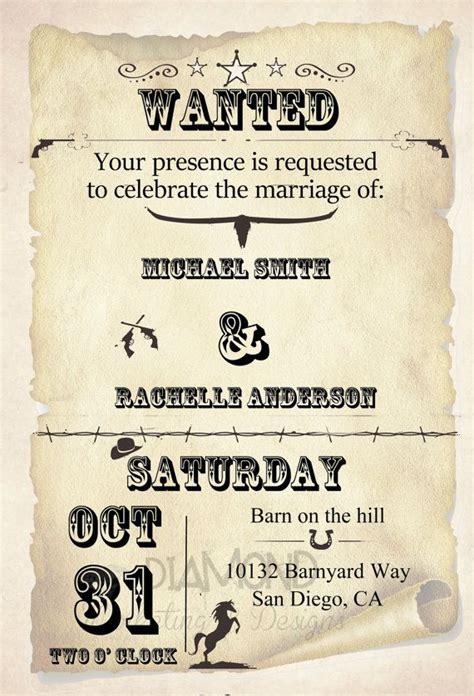 Wild West Wedding Invitation By Rachellesinvites On Etsy 15 00 šventėms Pinterest Paper West Invitation Template