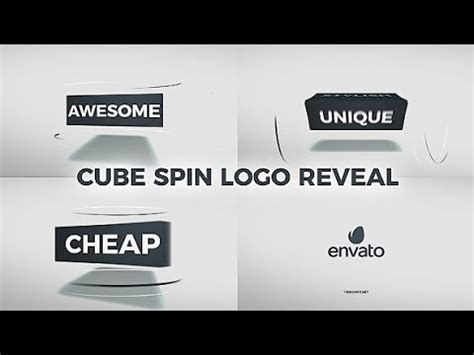 Cube Spin Logo Reveal Free After Effects Templates From Videohive Youtube Spinning Logo After Effects Template