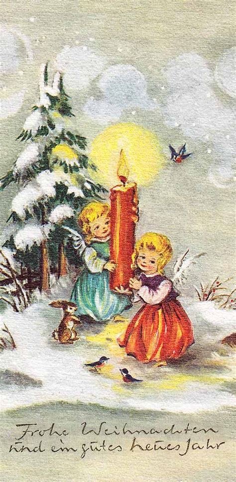 christmas cards german christmas  vintage christmas cards  pinterest