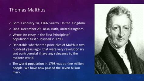 malthus founder of modern demography books malthus essay on the principles of population in 1798