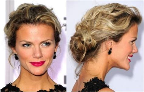 hair styles for shoulder length hair pulled back try these trendy hairstyles for prom brooklyn decker