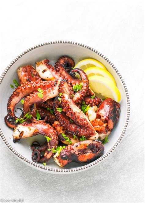 easy grilled octopus recipe cooking lsl