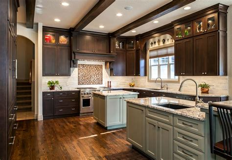 denver kitchen remodel features butlers pantry  islands
