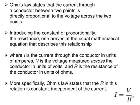 the current through a resistor at constant temperature is proportional to the voltage ohm s kirchoff s and mesh analysis