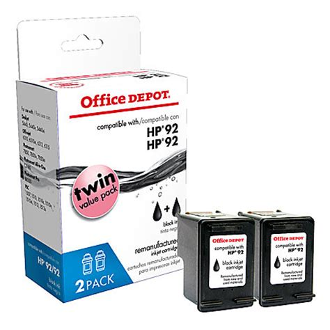 Office Depot Photo Printing Office Depot Brand Od292 2 Hp 92 Remanufactured Black Ink