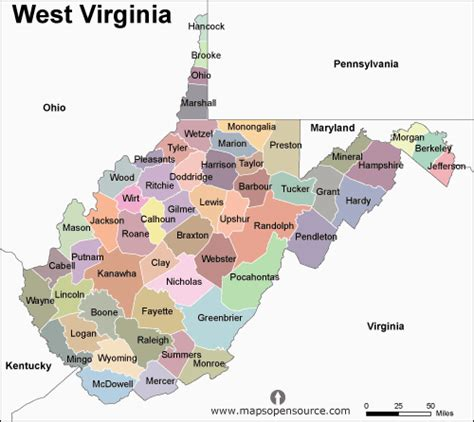 West Virginia Search Name Free West Virginia Map Map Of West Virginia State Usa Open Source Mapsopensource
