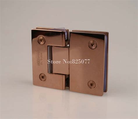 Glass Shower Door Hinges Hardware 1pcs Gold 180 Degree Hinge Open 304 Stainless Steel Glass Shower Door Hinges For Home