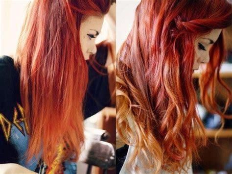 fotos de mechas californianas en rojo cabello rojo con mechas californianas buscar con google
