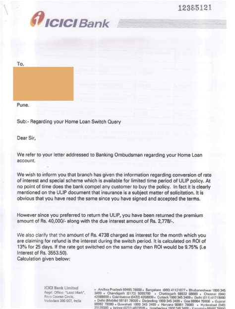 Icici Bank Letterhead Icici Bank Icici Pune Home Loan Dept Duped Me Page 3