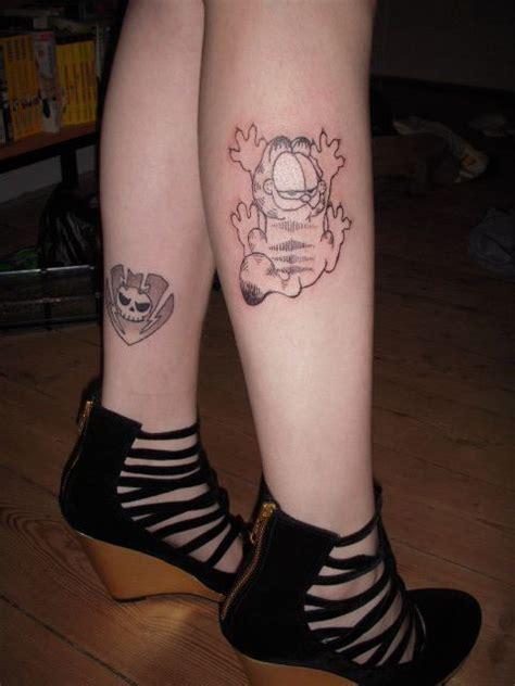garfield tattoo black and white garfield i garfield