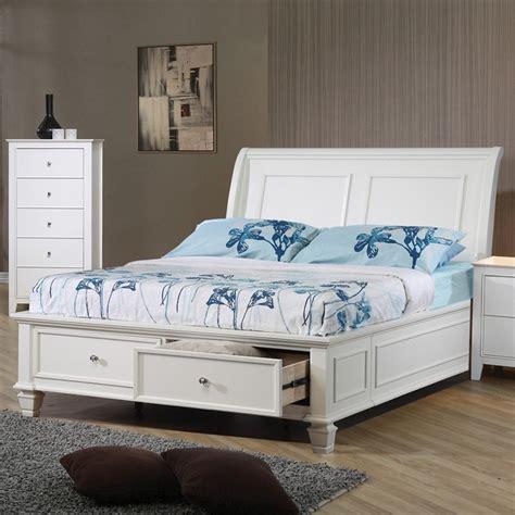 dreamfurniture com sandy beach storage bed bedroom set dreamfurniture com sandy beach storage bed in white finish